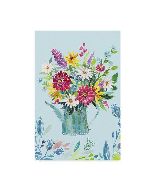 "Trademark Global Irina Trzaskos Studio 'Garden Flag 4' Canvas Art - 16"" x 24"""
