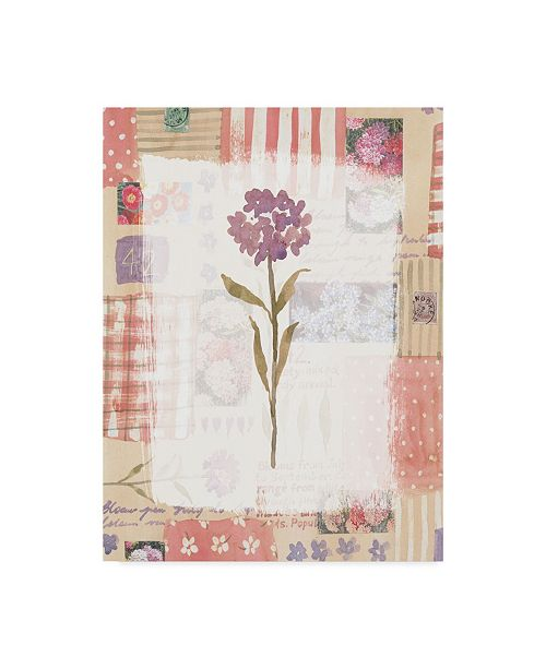 "Trademark Global Hope Street Designs 'Purple Flower Rustic' Canvas Art - 14"" x 19"""