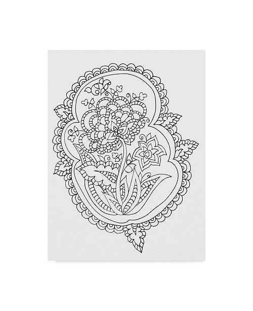 "Trademark Global Jessica Putnam 'Floral With Border 8' Canvas Art - 24"" x 32"""