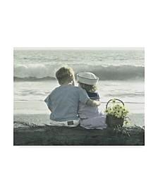 """Gail Goodwin 'By The Seashore Beach' Canvas Art - 19"""" x 14"""""""