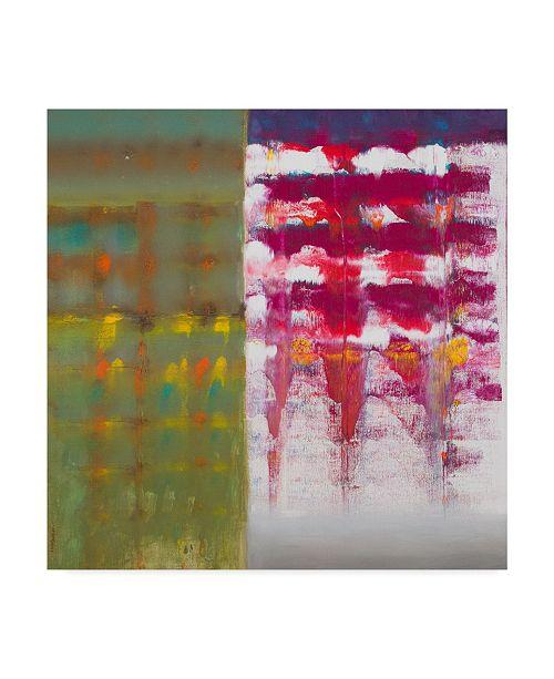 "Trademark Global Hooshang Khorasani 'Color Storm Resonance' Canvas Art - 14"" x 14"""