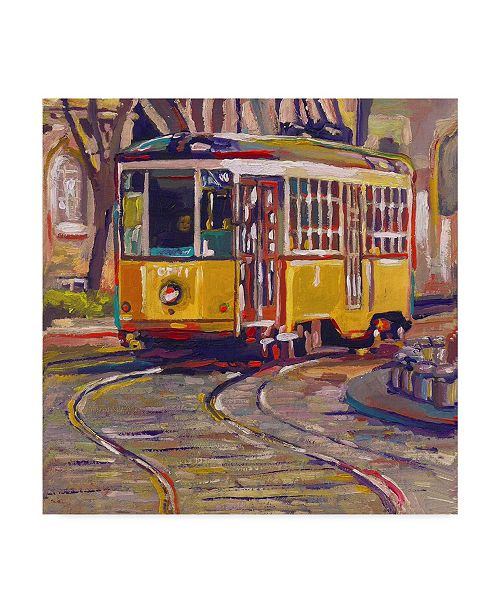 "Trademark Global Howie Green 'Italian Trolley' Canvas Art - 24"" x 24"""