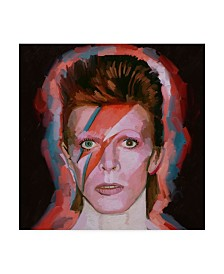 """Howie Green 'David Bowie Aladdin-Sane' Canvas Art - 14"""" x 14"""""""
