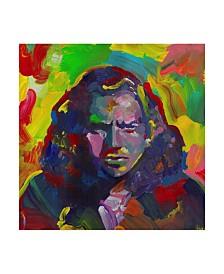 """Howie Green 'Eddie Vedder' Canvas Art - 14"""" x 14"""""""
