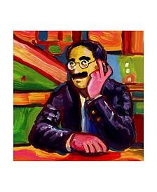 "Howie Green 'Groucho Marx' Canvas Art - 14"" x 14"""