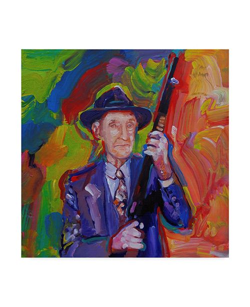 "Trademark Global Howie Green 'William Burroughs' Canvas Art - 24"" x 24"""