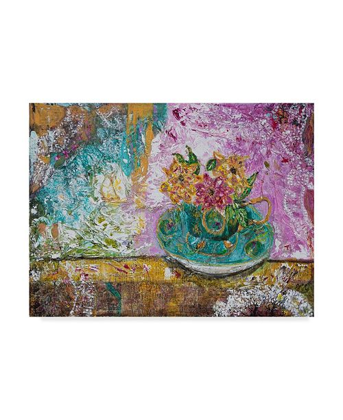 """Trademark Global Jane Hinchliffe 'Serenity In A Teacup' Canvas Art - 19"""" x 14"""""""