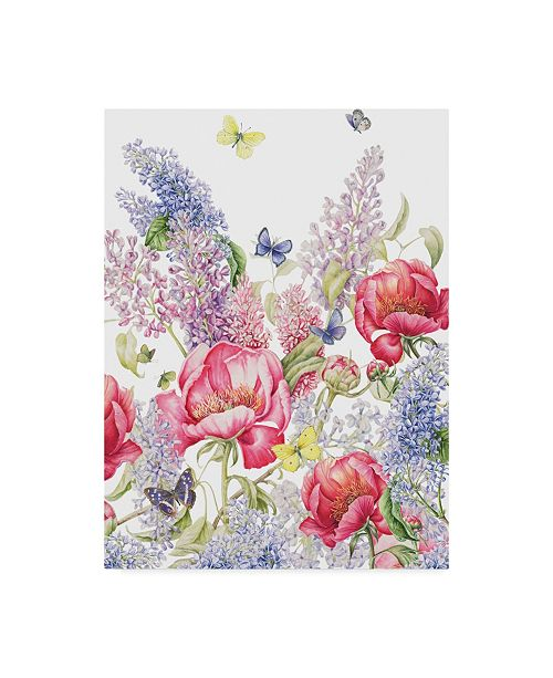"Trademark Global Janneke Brinkman-Salentijn 'Paeonia And Syringa' Canvas Art - 18"" x 24"""