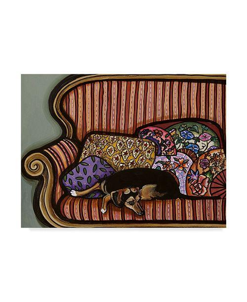 """Trademark Global Jan Panico 'Sleepy Pup' Canvas Art - 24"""" x 18"""""""