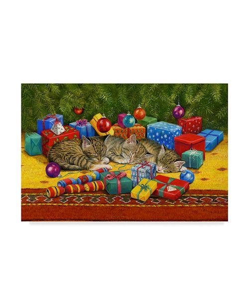 "Trademark Global Janet Pidoux 'Under The Christmas Tree' Canvas Art - 19"" x 12"""