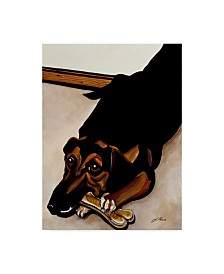 "Jan Panico 'Cleo Enjoying An Afternoon Snack' Canvas Art - 24"" x 32"""