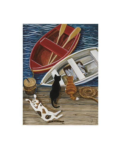 "Trademark Global Jan Panico 'The Days Catch' Canvas Art - 18"" x 24"""