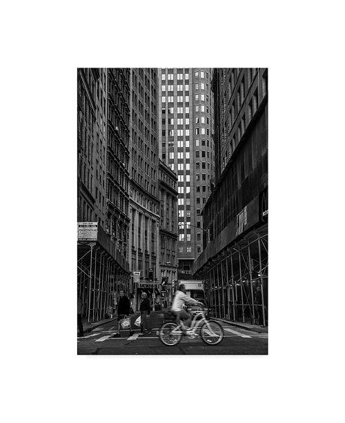 """Trademark Global Jason Matias 'Downtown Bw' Canvas Art - 22"""" x 32"""""""