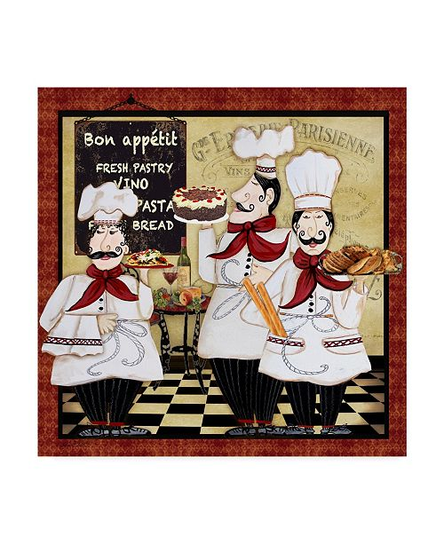 """Trademark Global Jean Plout 'Bistro French Chefs 2' Canvas Art - 18"""" x 18"""""""