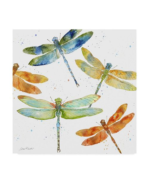 """Trademark Global Jean Plout 'Dragonfly Bliss 1' Canvas Art - 24"""" x 24"""""""