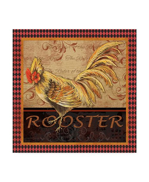 "Trademark Global Jean Plout 'Ruler Of The Roost Series 2' Canvas Art - 18"" x 18"""