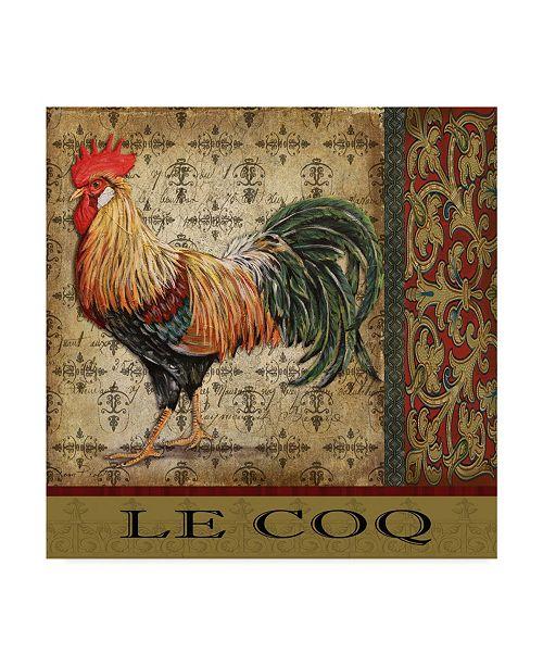 "Trademark Global Jean Plout 'Vintage Le Coq 1' Canvas Art - 24"" x 24"""