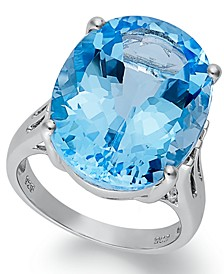 Sterling Silver Ring, Blue Topaz Oval Ring (21-9/10 ct. t.w.)