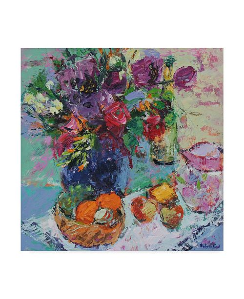 "Trademark Global Sylvia Paul 'Summer Garden Flowers' Canvas Art - 14"" x 14"""