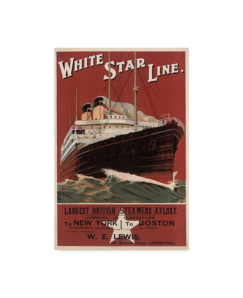 "Trademark Global English School 'White Star Line, 1906' Canvas Art - 22"" x 32"""