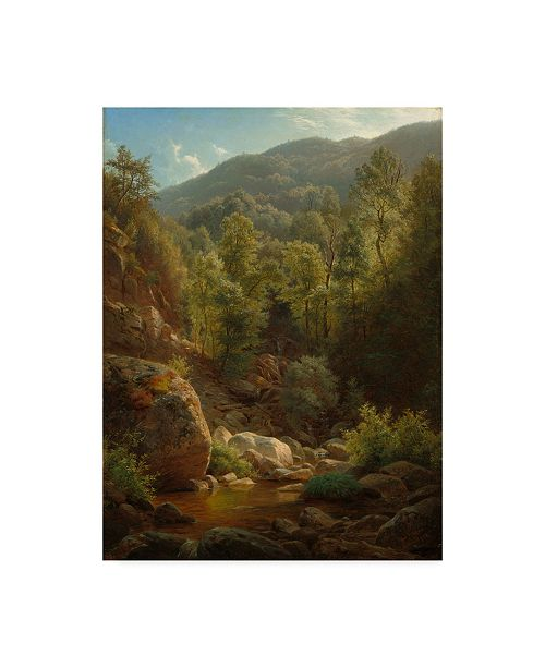 "Trademark Global Paul Weber 'Scene In The Catskills, 1858' Canvas Art - 14"" x 19"""