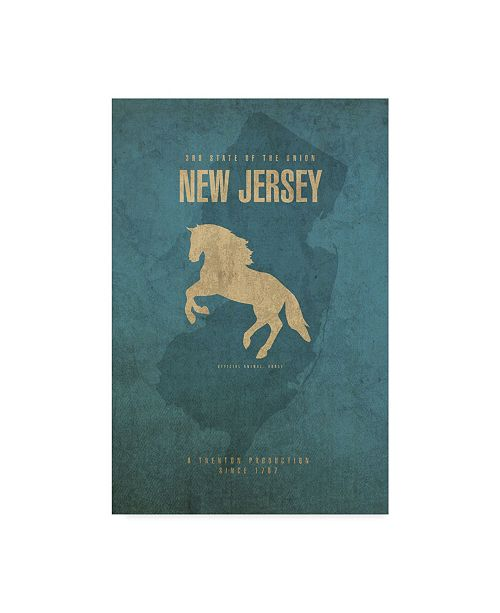 "Trademark Global Red Atlas Designs 'State Animal New Jersey' Canvas Art - 22"" x 32"""