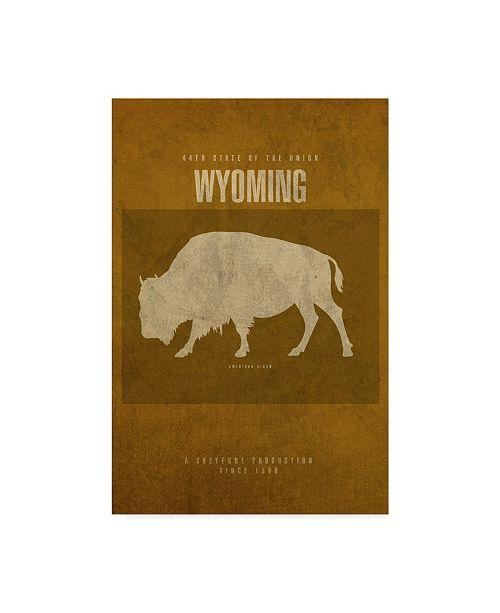 "Trademark Global Red Atlas Designs 'State Animal Wyoming' Canvas Art - 12"" x 19"""