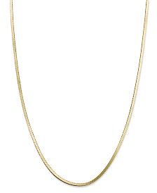 Giani Bernini Snake Chain Necklaces in 18K Gold-Plated Sterling Silver, Created for Macy's