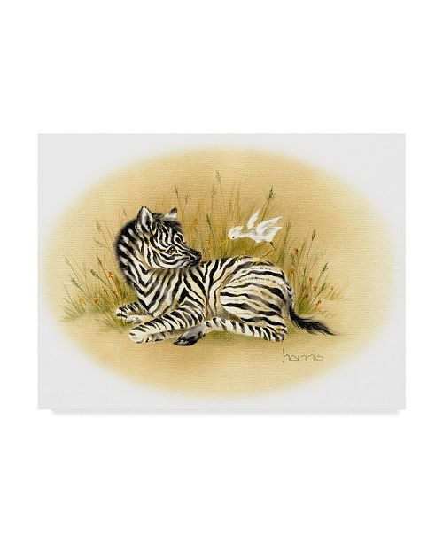 "Trademark Global Peggy Harris 'Yipes Stripes' Canvas Art - 19"" x 14"""