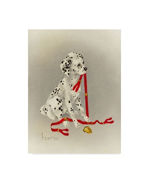 "Trademark Global Peggy Harris 'Dalmatian Hot Diggity Dog' Canvas Art - 14"" x 19"""