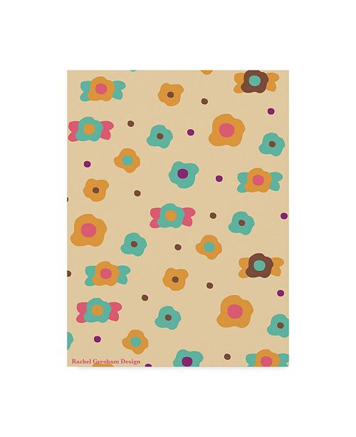 "Trademark Global Rachel Gresham 'Doodle Floral' Canvas Art - 18"" x 24"""
