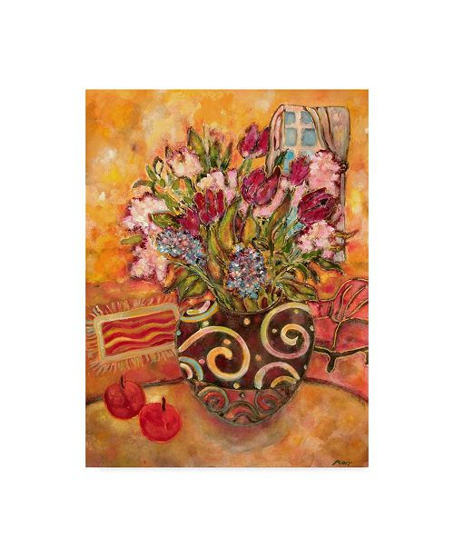"Trademark Global Lorraine Platt 'Elyseium Vase Of Flowers' Canvas Art - 14"" x 19"""