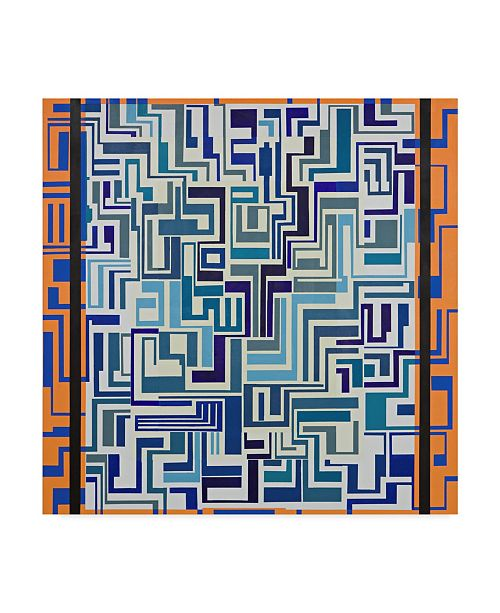 "Trademark Global Manuel Ros 'Blue Orange Abstract' Canvas Art - 24"" x 24"""
