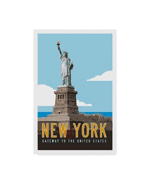 "Trademark Global Michael Jon Watt 'New York Travel Poster' Canvas Art - 16"" x 24"""