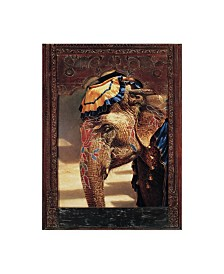 """Michael Jackson 'Painted Lady With Frame' Canvas Art - 18"""" x 24"""""""