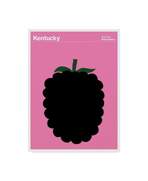 """Trademark Global Print Collection - Artist 'Kentucky Blackberry' Canvas Art - 14"""" x 19"""""""