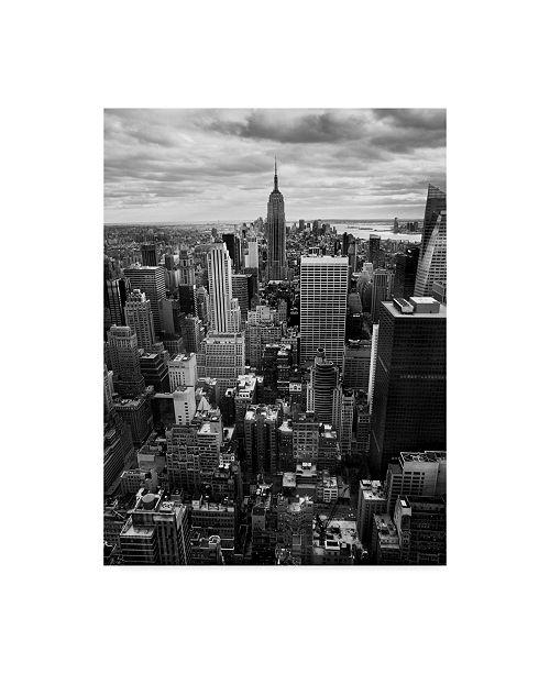 "Trademark Global Nina Papiorek 'Nyc Downtown' Canvas Art - 14"" x 19"""
