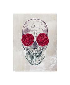 "Rachel Caldwell 'Skull Roses' Canvas Art - 18"" x 24"""