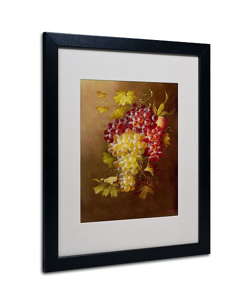"""Trademark Global Rio 'Still Life with Grapes' Matted Framed Art - 19"""" x 14"""""""
