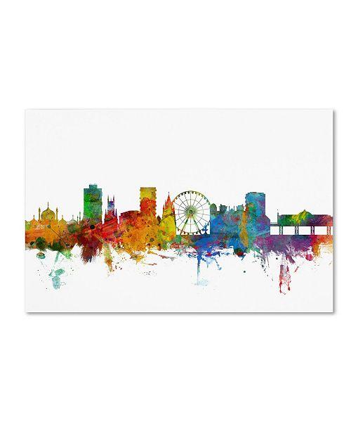 "Trademark Global Michael Tompsett 'Brighton England Skyline II' Canvas Art - 19"" x 12"""