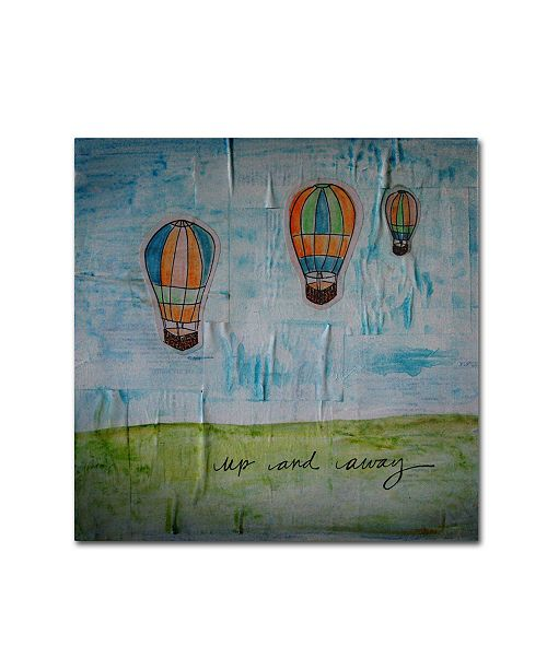 "Trademark Global Nicole Dietz 'Up and Away' Canvas Art - 18"" x 18"""