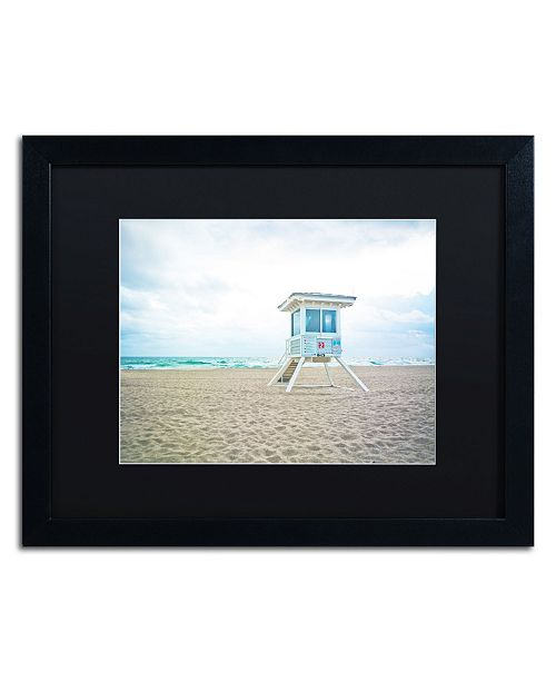 """Trademark Global Preston 'Florida Beach Chair 2' Matted Framed Art - 16"""" x 20"""""""