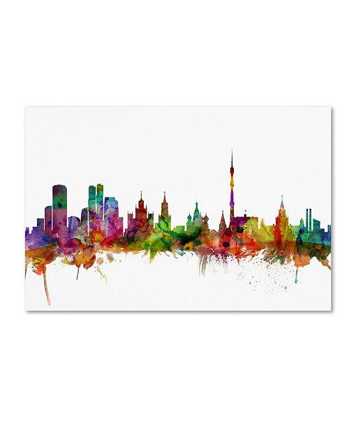 "Trademark Global Michael Tompsett 'Moscow Russia Skyline' Canvas Art - 16"" x 24"""