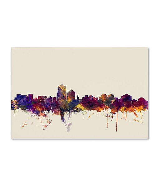 "Trademark Global Michael Tompsett 'Albuquerque New Mexico Skyline' Canvas Art - 30"" x 47"""