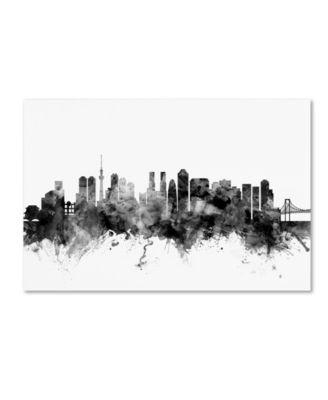 Michael Tompsett 'Tokyo Japan Skyline B&W' Canvas Art - 12