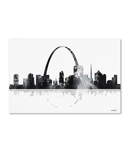 "Trademark Global Marlene Watson 'St Louis Missouri Skyline' Canvas Art - 22"" x 32"""
