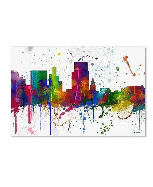 "Trademark Global Marlene Watson 'Boise Idaho Skyline Mclr-1' Canvas Art - 22"" x 32"""