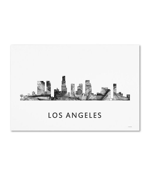 "Trademark Global Marlene Watson 'Los Angeles California Skyline WB-BW' Canvas Art - 22"" x 32"""