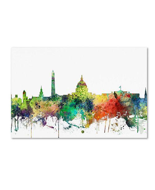 """Trademark Global Marlene Watson 'Washington DC Skyline SP' Canvas Art - 30"""" x 47"""""""