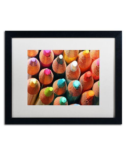 """Trademark Global Jason Shaffer 'Pencils' Matted Framed Art - 20"""" x 16"""""""